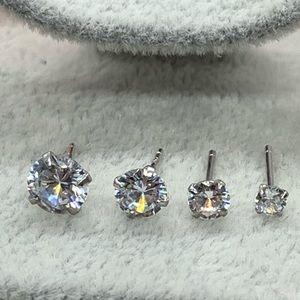 Jewelry - Sterling Silver 925 CZ Stud Earrings